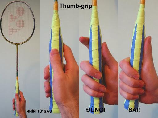 Kỹ thuật cầm vợt