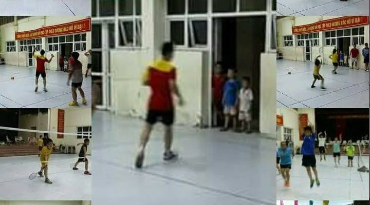 Lớp học đánh cầu lông ở Hà Nội. Ảnh: Internet.
